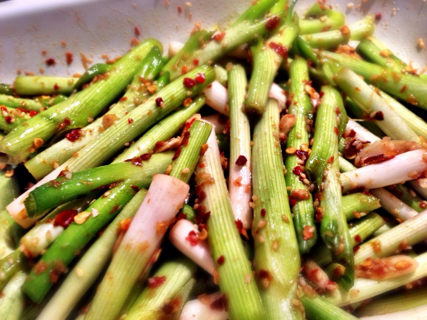 Quick Scallion Kimchee