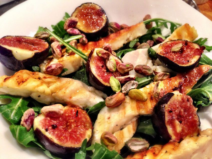 Figs And Halloumi