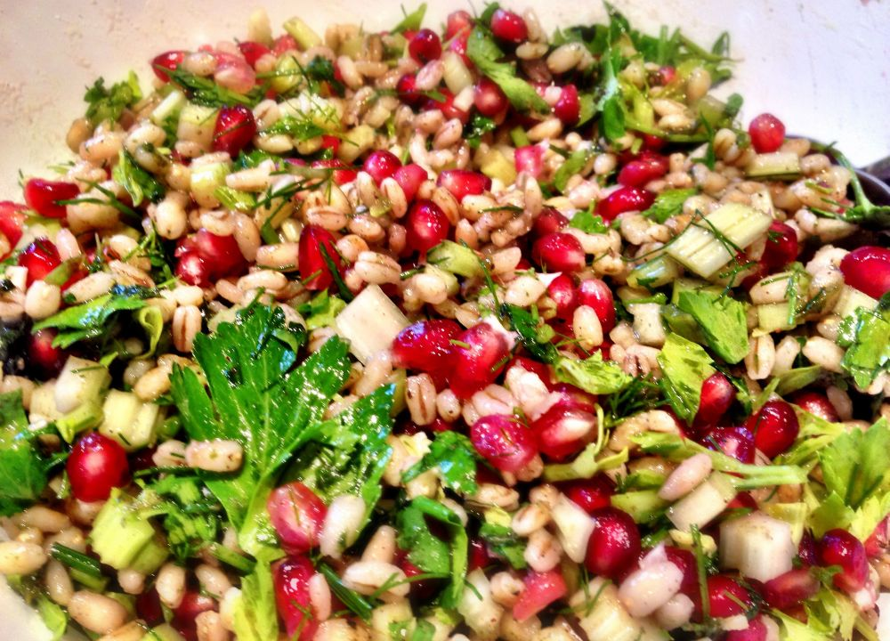 Barley and Pomegranate Salad