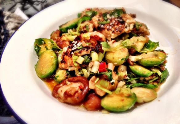 Brussel Sprouts with Tofu