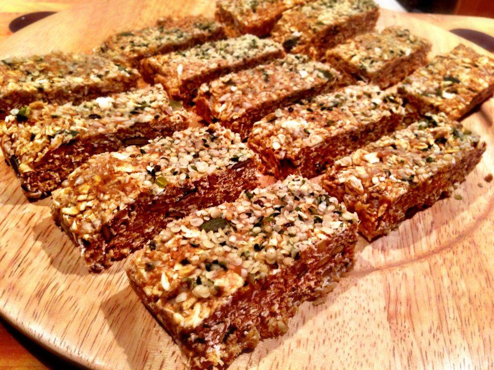 Raw Hemp Granola Bars