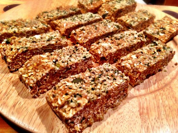 Raw Hemp and Granola Bars