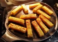 Frying Polenta Chips