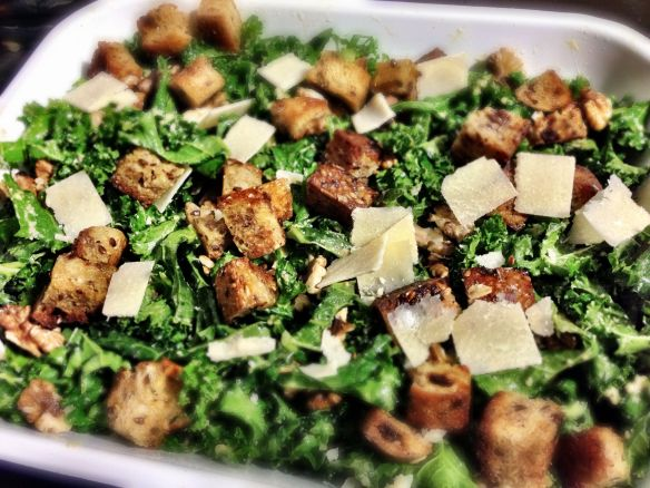Kale Caesar Salad - Tray View