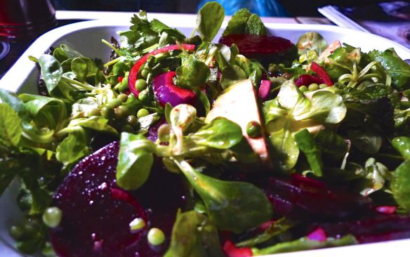 Beetroot, Pea and Avocado Salad