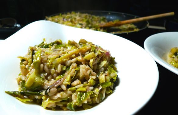 Brussels Sprout Risotto