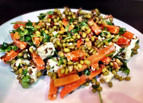 Carrot, Feta and Mung Bean Salad
