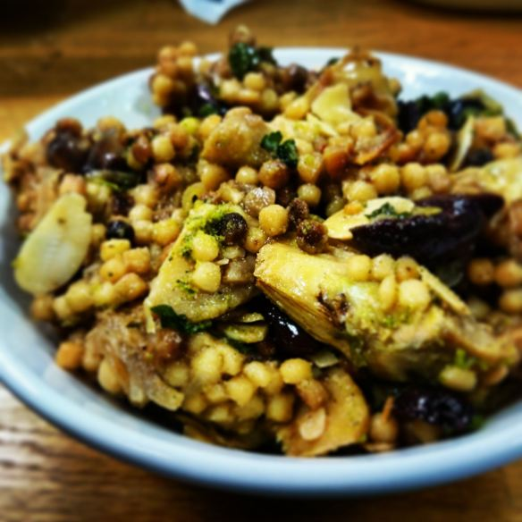 Fregola and Artichoke Pilaf
