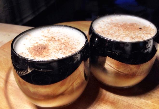 Bourbon and Spiced Rum Eggnog