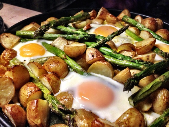 New Potatoes, Asparagus and Eggs