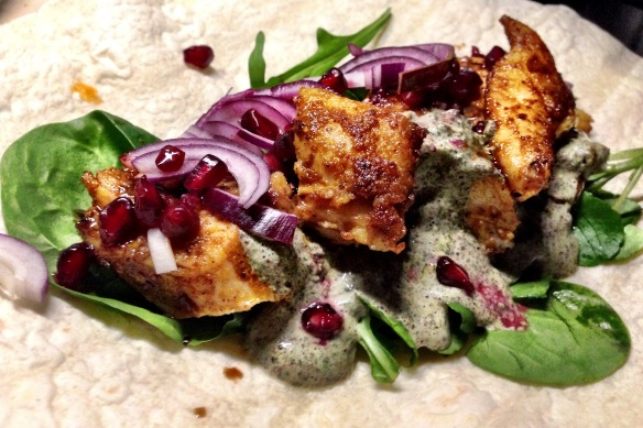Ras el Hanout Chicken Wraps